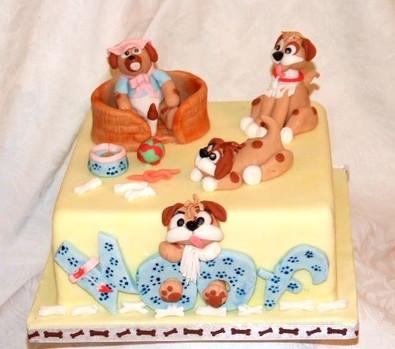 Puppy dog cake