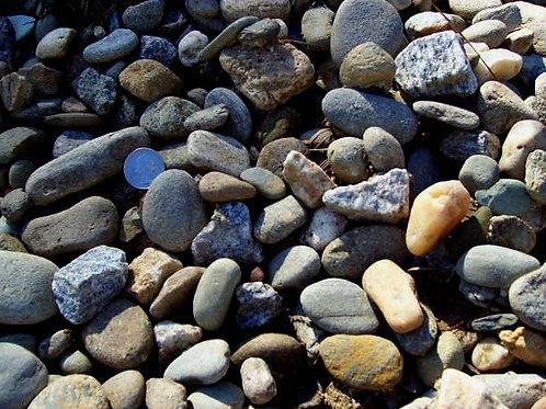 "Mountain Jacks (.75-1.5"") - per ½ cubic yard scoop"