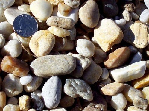 "River Rock 57 (.75-1.5"") - per ½ cubic yard scoop"