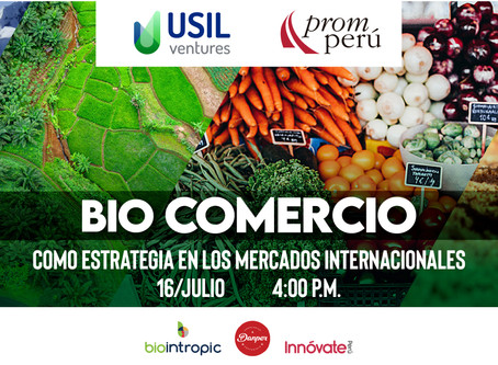 Webinar - Biocomercio como estrategia en los mercados internacionales.