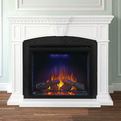 Napoleon Taylor 55-Inch Electric Fireplace Mantel Package with 33-Inch Ascent Fi