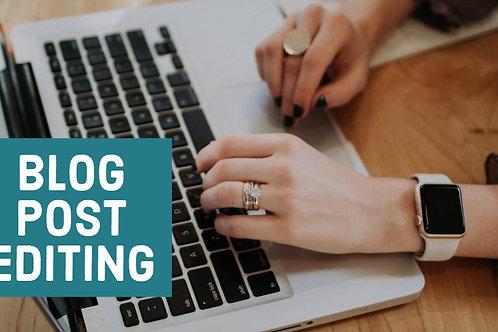 Blog Post Editing