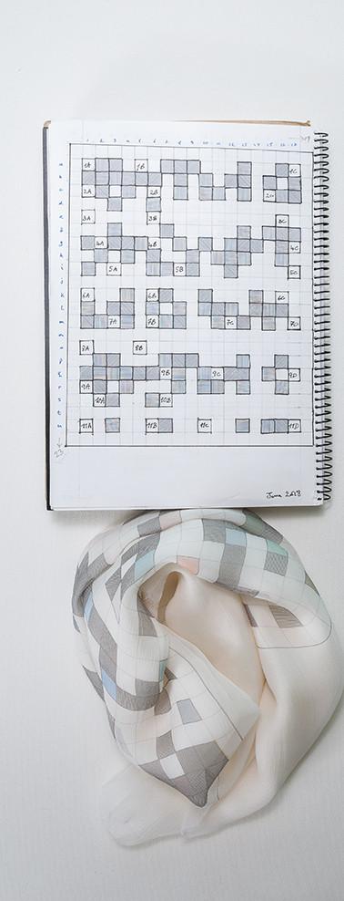 Notebook page - silk chiffon scarf