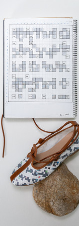 Notebook page - lace-up espadrilles