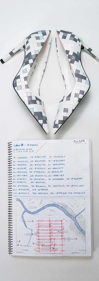 Notebook page - D7 high heel