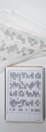 Notebook page - D7 silk chiffon scarf