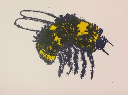 Bee, 7x6cm.  Unmounted £15 + p&p.