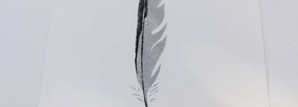 Herring Gull Feather, Paper, 7x25cm, Edition of 6.  Unmounted £75 + p&p.