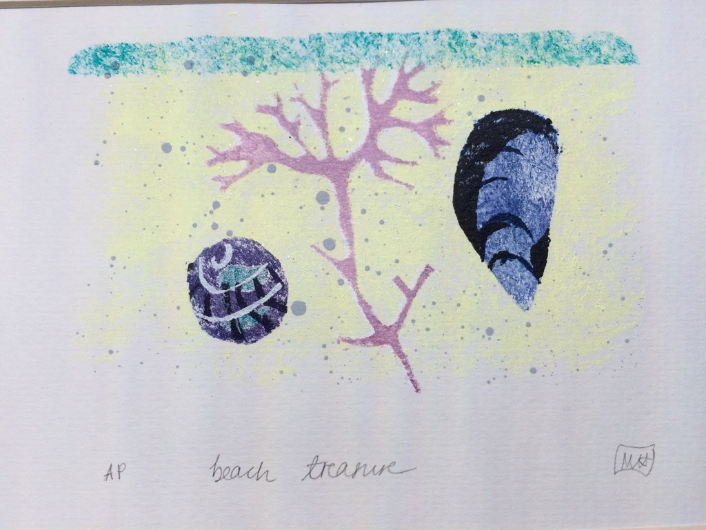Beach Treasure, Paper, 13x9cm, Edition of 3.  Unmounted £50 + p&p.