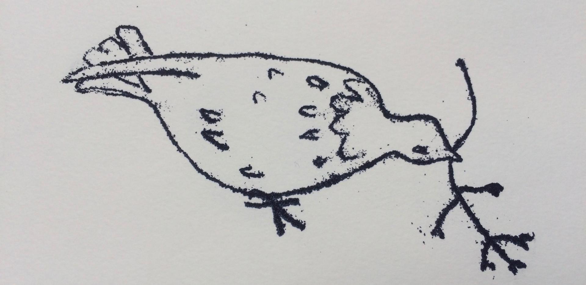 Dove - offering, 14x10cm.  Unmounted £10