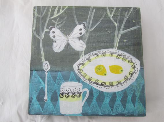 ER Persephone Mug, Mixed Media, Board, 21x21cm.  £80 + p&p.