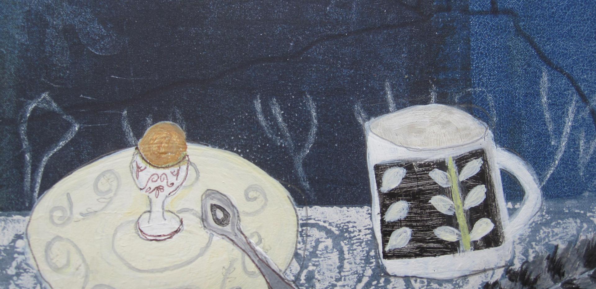 Maran Tea, Mixed Media, Board, 13x13cm Sold
