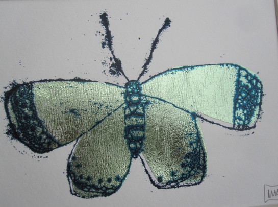Butterfly 1, 15x10cm. Sold