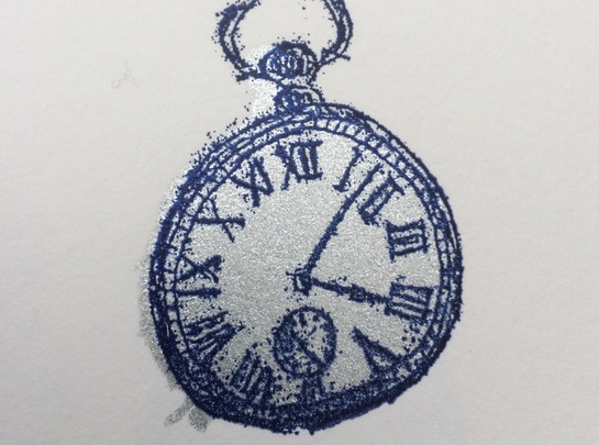 Pocket Watch, 5x7cm, Unmounted £10 + p&p