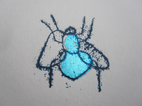 Blue Fly, 3x4cm.  Unmounted £15 + p&p.