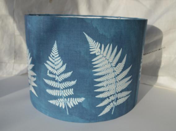 Fern Design, 30cm Drum, Pendant Lampshade.  Sold
