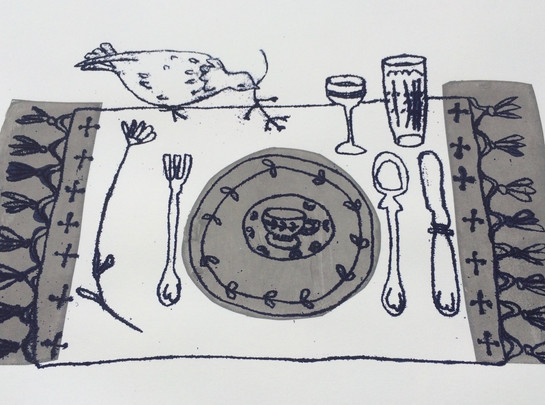 Suppers Ready!  32x23cm.  Unmounted £25 + p&p