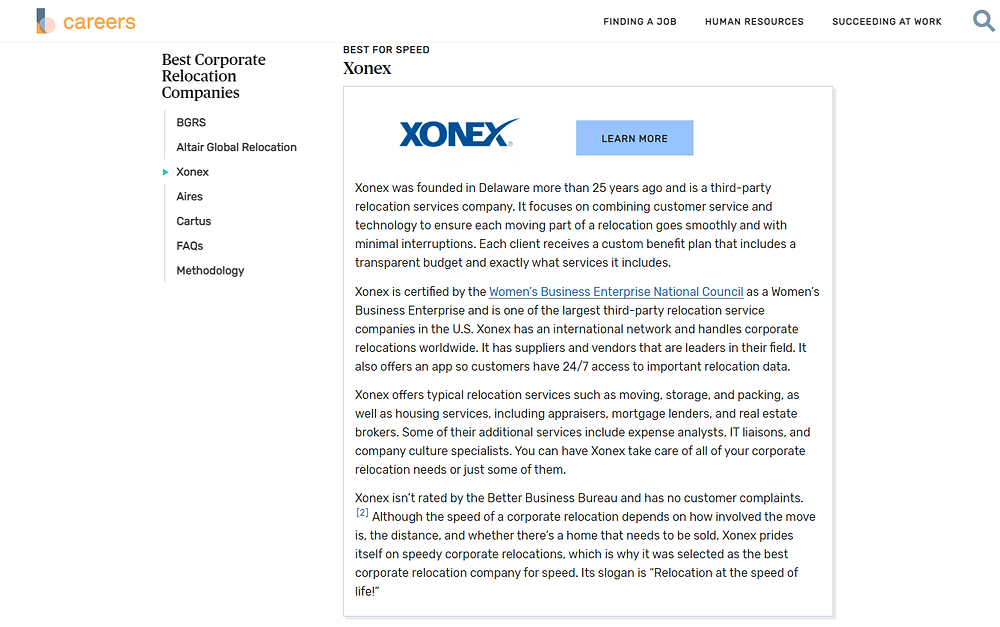XONEX Relocation Named a Top 5 Best Corporate Relocation Companies of 2021