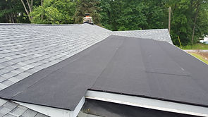 Low slope roll roofing