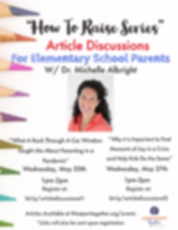Article Discussions for Elementary - May