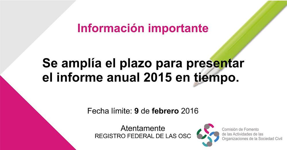 Informe anual de actividades