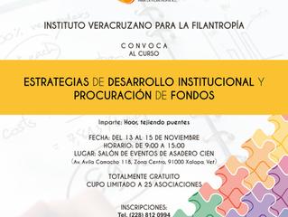 Convocatoria curso Estrategias de Desarrollo Institucional y Procuración de Fondos