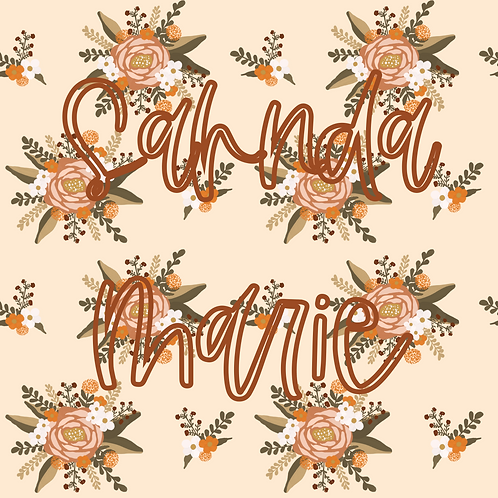 Fall Floral Seamless Repeat Pattern Download