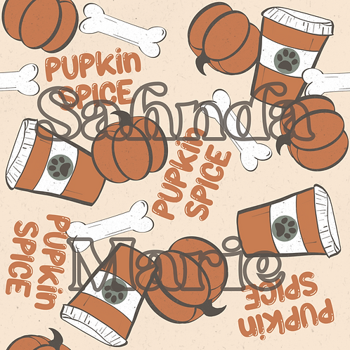 PUPkin Spice Seamless Repeat Pattern Download