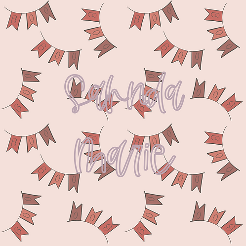 BOO Halloween Banners Seamless Repeat Pattern Download
