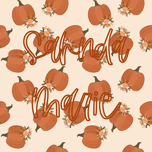 Pumpkin Harvest Seamless Repeat Pattern Download