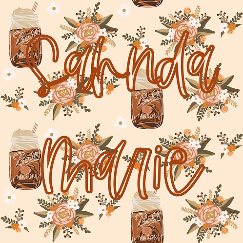 Pumpkin Spice Floral Seamless Repeat Pattern Download
