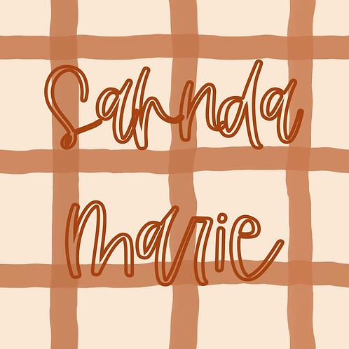 Pumpkin Wavy Grid Seamless Repeat Pattern Download