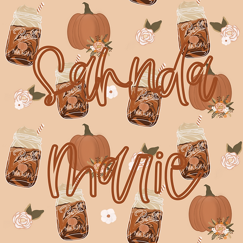 Pumpkins and Spice Seamless Repeat Pattern Download