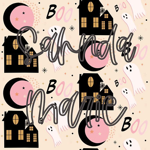Pink Halloween Seamless Repeat Pattern Download