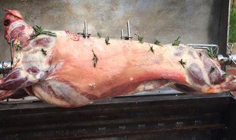 Chiltern Hog Roast | Spring lamb ready for roasting