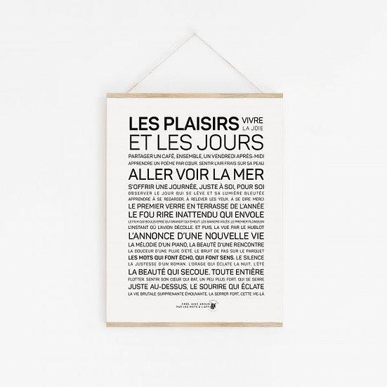 Affiche A3 - Les plaisirs et les jours
