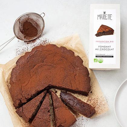 Préparation - Fondant au chocolat