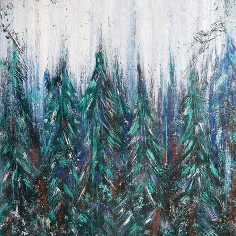 Painting 7: Starting to Snow