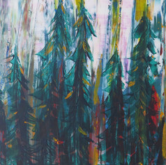 Painting 1: Pallet Knife Forest