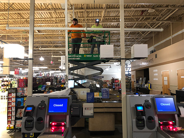 Self check out installation Marianos Grocery