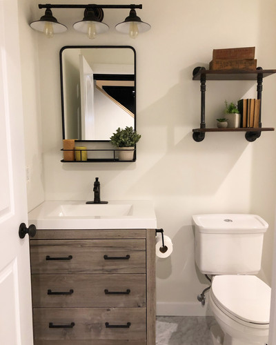 Basement bathroom - lighting and fan installation
