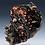 Thumbnail: Vanadinite on Manganese Oxides : Taouz, Morocco