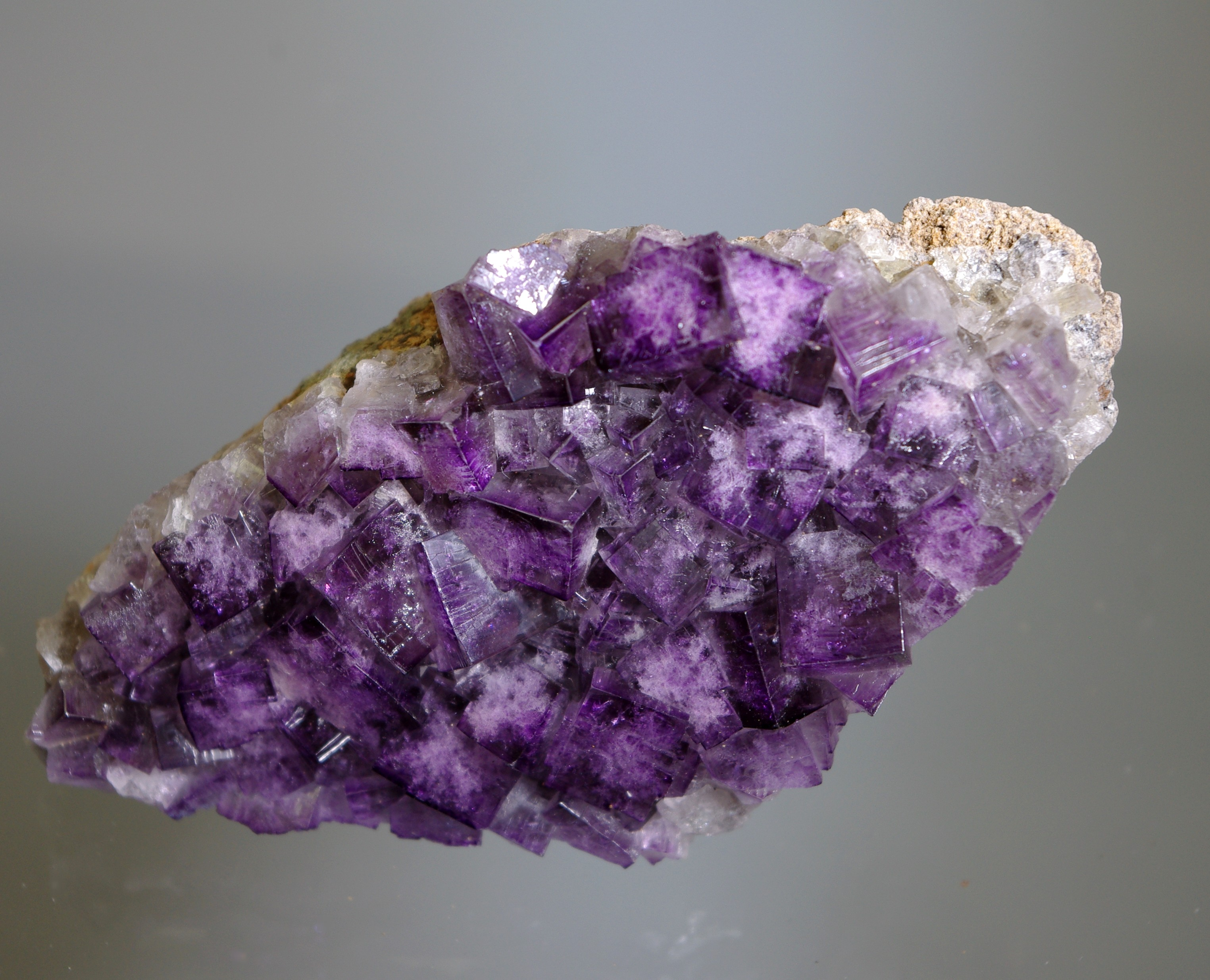 purple cubes of Fluorite from the Hi