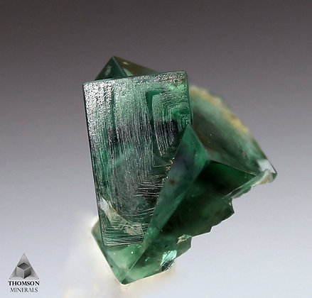 Fluorite Twin - Eastgate cement Quarry, Stanhope, Weardale, Co. Durham, UK