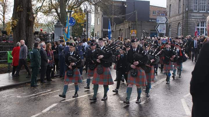 Cupar and District Pipe Band: Remembrance Parade