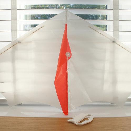 Delta kite - plain white (3 pack)