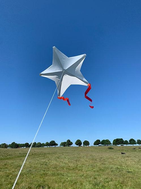 Star kite - plain white (3 pack)