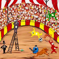 Tubbies exploring new career paths- part 1 (circus)