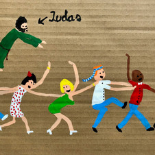 Piece 34 - Judas wants to kiss, but the conga continues!!