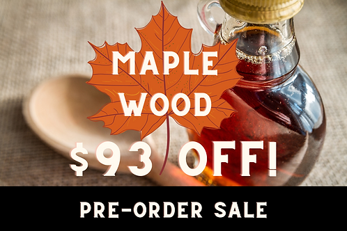 24-Pack (540 ml/each) of Maple Wood Maple Syrup